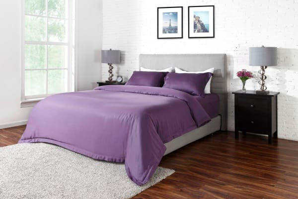Ovela 1000TC Cotton Rich Luxury Quilt Cover Set (Single, Lilac)