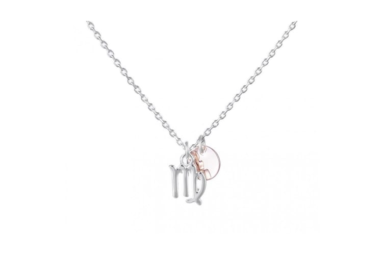 Fable Womens/Ladies Two Tone Zodiac Sign Pendant (Virgo) (One Size)