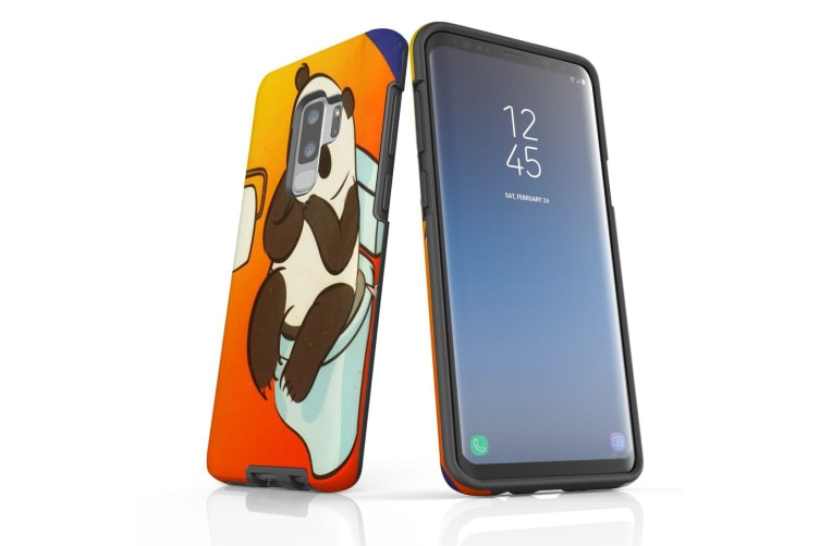 For Samsung Galaxy S9+ Plus Case Armour Cover  Panda's Toilet
