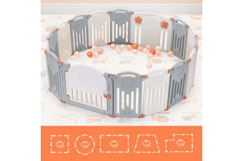 ABST 16 Panel Baby Safety Playpen Interactive Kids Play Center Room   Bear Style