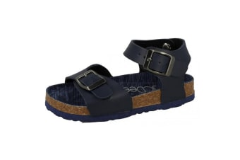 JCDees Boys Synthetic Buckle Ankle Strap Sandals (Navy)