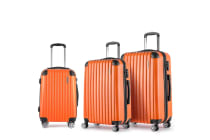 Set of 3 Hard Shell Travel Luggage with TSA Lock (Orange)