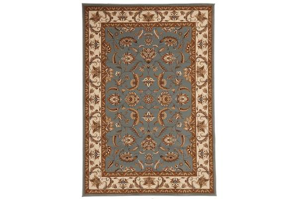 Stunning Formal Floral Design Rug Blue 290x200cm