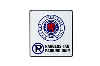 Rangers FC Official Metal Football Crest No Parking Sign (White/Blue/Black)