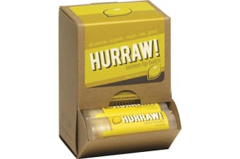 Hurraw! Lip Balm Lemon 4.3g x 24 Display