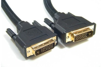 Astrotek DVI-D Cable 2m - 24+1 pins Male to Male Dual Link 30AWG OD8.6mm Gold Plated RoHS