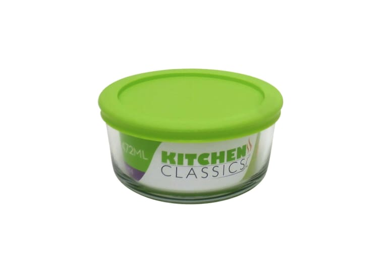 Kitchen Classics Round Glass Dish With Lid - 2 Cup
