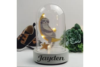 Personalised Sloth Light Up Dome Decoration