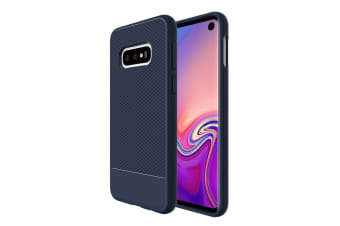 For Samsung Galaxy S10e Armour Case  Snap Blue Armor Shock Proof Slim Cover