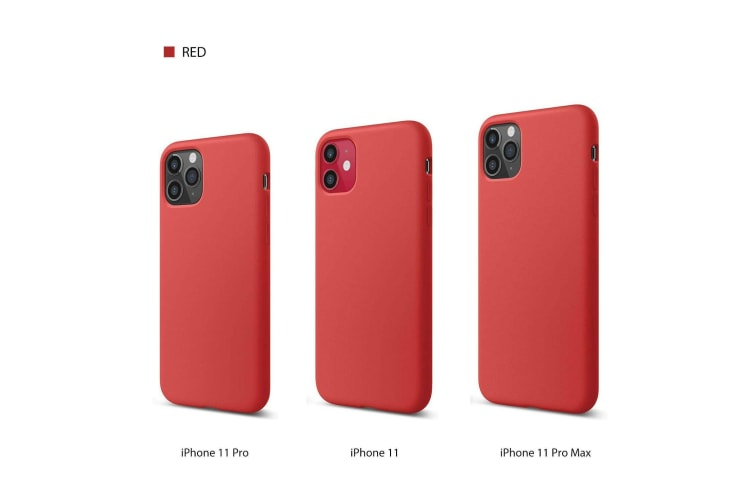 PREMIUM Thin Soft Silicone Shockproof Cover for iPhone 11 Pro-Red