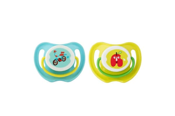 Pigeon Calming Soother Twin Pack - Small - Bike/Apple