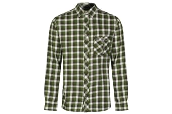 Regatta Great Outdoors Mens Lazka Long Sleeve Checked Shirt (Bayleaf)
