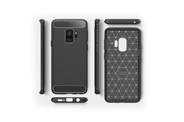 Brushed Case For Samsung Galaxy S9+ Black