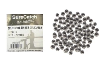 100 x Size 2 Split Shot Fishing Sinkers