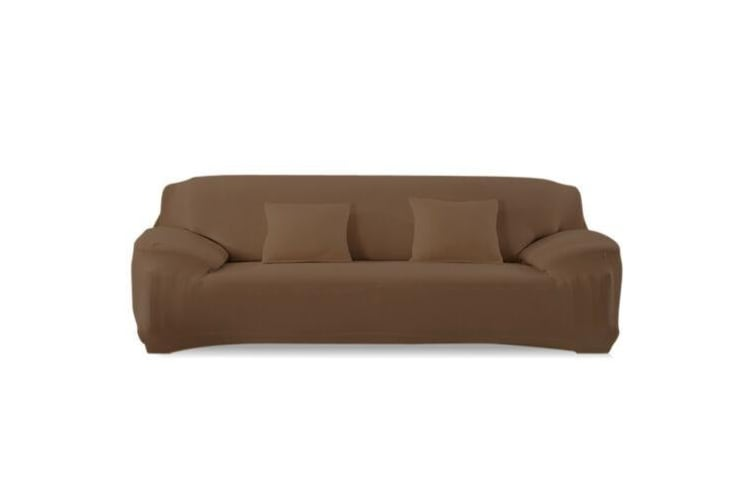 Easy Fit Stretch Couch Sofa Slipcovers Protectors Covers 3 Seater Coffee  -  3-Seater in Coffee