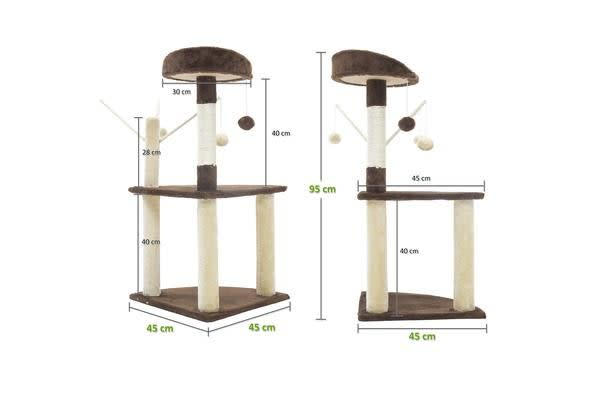 Cat Tree Scratcher LUNA 95cm - BROWN