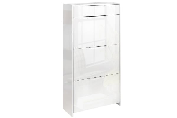 High Gloss Shoe Cabinet Rack White