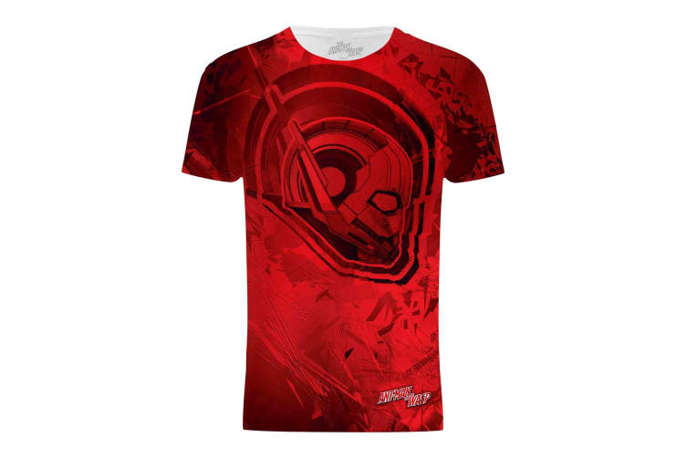 Ant-Man And The Wasp Mens Ant-Man Head Graphic T-Shirt (Red) (S)