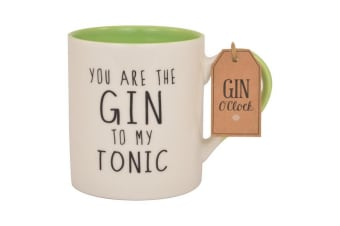 You Are The Gin To My Tonic Mug (White/Black/Green) (One Size)