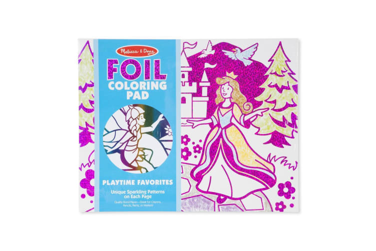 Melissa and Doug Foil Colouring Pad - Playtime Favourites