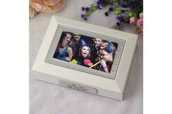 Birthday Photo Keepsake Box White