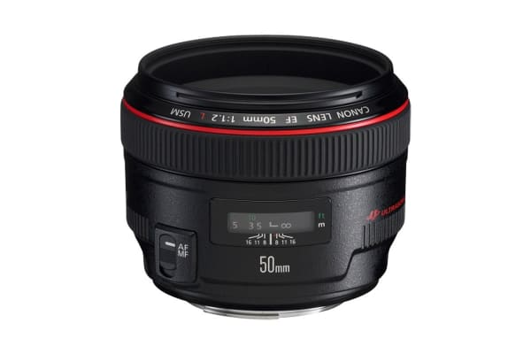 Canon EF 50mm f/1.2L USM Lens with 72mm Diameter to suit Lens Hood ES-78 (EF5012LU)