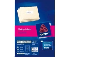 AVERY INKJET LABELJ8161-50 50 SHEETS