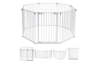3-in-1 Kids Metal Safety Playpen with Double Locking System