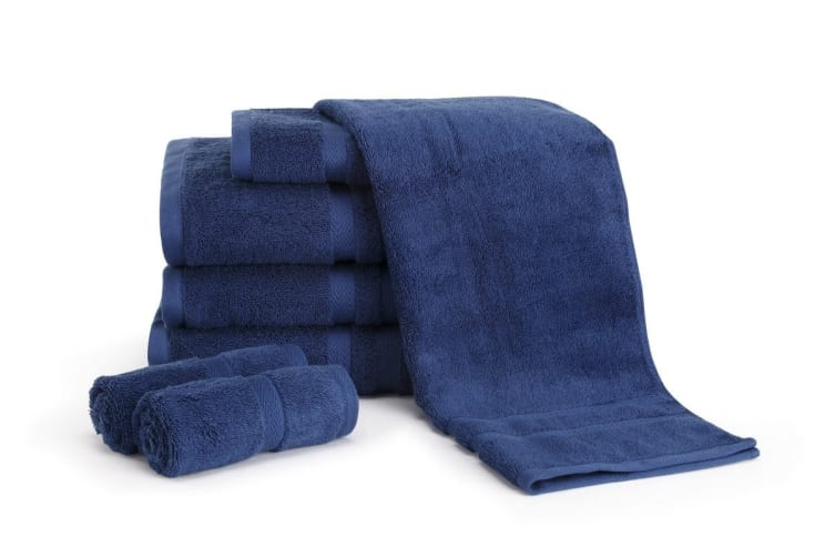 Ovela Set of 7 Egyptian Cotton Luxury Towels (Marine)