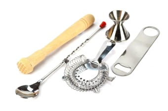 5 Piece Cocktail Essentials Set - With Free Bar Blade