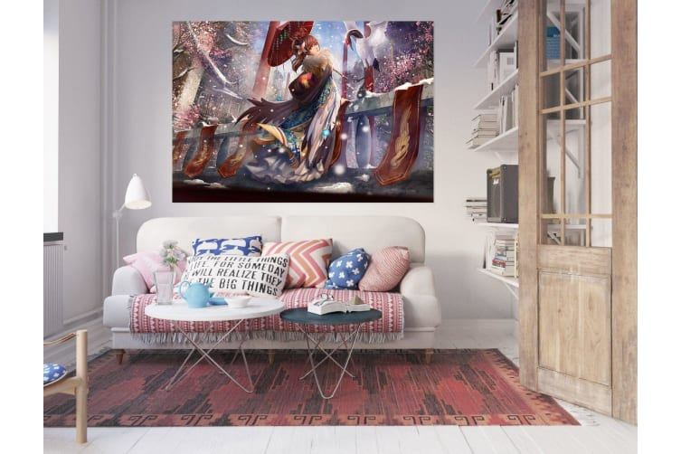 3D Beautiful Girl 946 Anime Wall Stickers Self-adhesive Vinyl, 180cm x 100cm(70.8'' x 39.3'') (WxH)