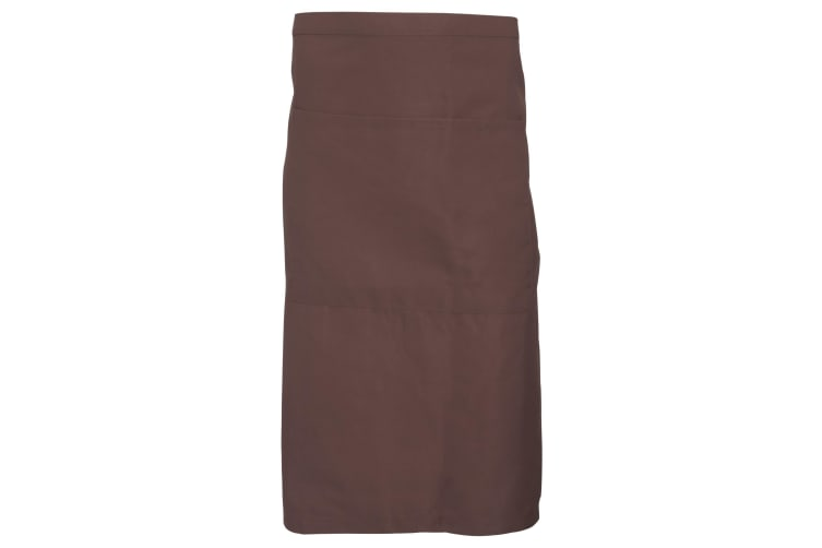 Dennys Adults Unisex Catering Waist Apron With Pocket (Biscuit) (One Size)