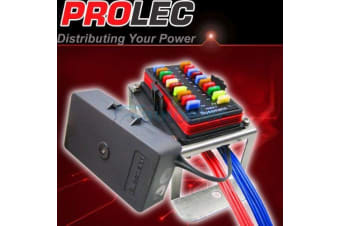 PROLEC 20 WAY FUSE BLOCK BOX HOLDER KIT MINI BLADE CARAVAN DUAL BATTERY 12V NEW
