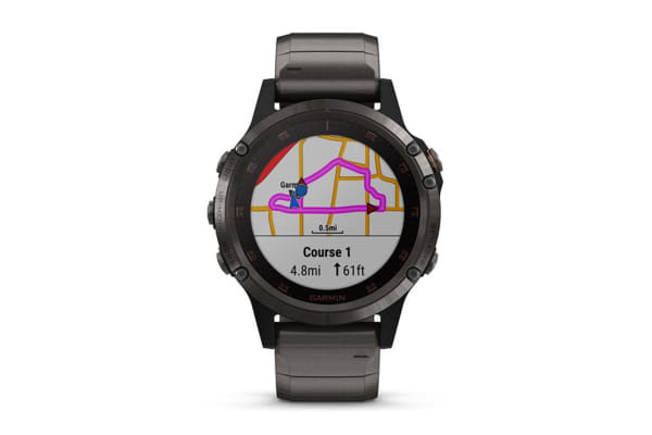 Garmin Fenix 5X Plus Carbon Gray DLC Titanium with DLC Titanium Band
