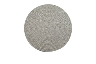 Casa Regalo Round Placemat 38cm Grey & White
