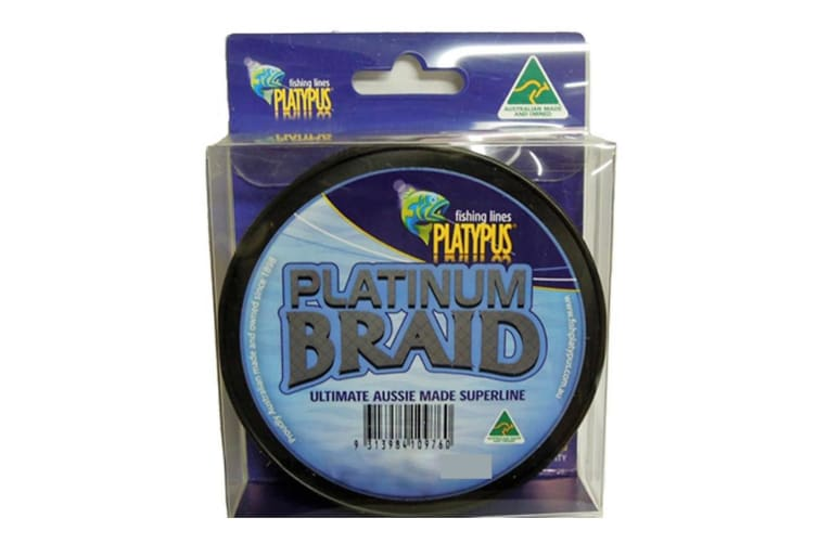 Platypus Platinum Australian Made Braid - 30lb- Grey - 300 Yd Spool
