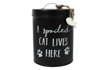Something Different Cat Biscuit Tin (Black) (One Size)