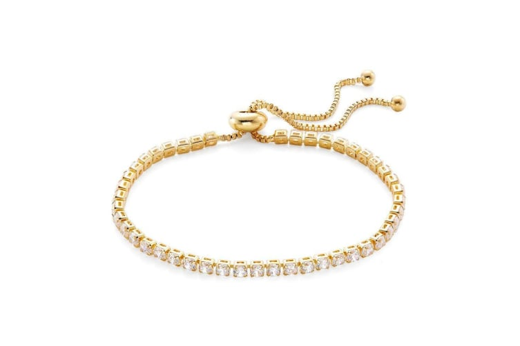 Kensington Womens/Ladies Single Row Tennis Bracelet (Gold) (One Size)