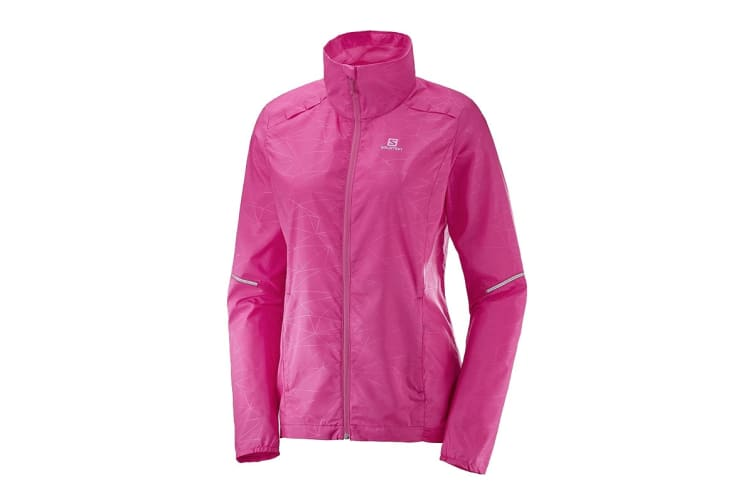 Salomon Agile Wind Jacket (Pink Yarrow, Size S)
