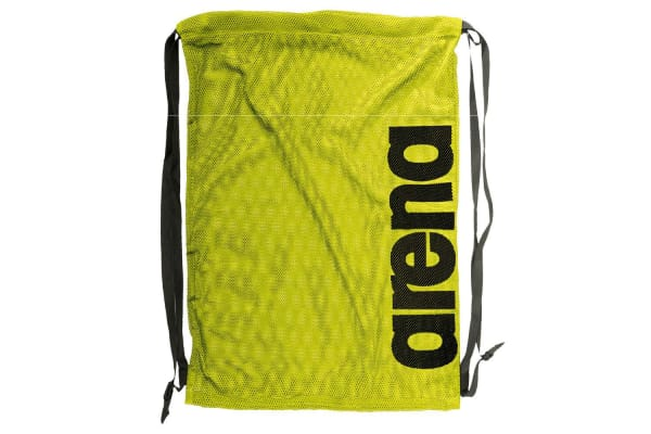 Arena Fast Mesh Backpack for Swimming Suits & Sports Training - Fluro Yellow