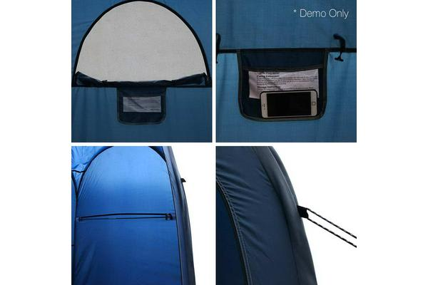WEISSHORN Portable Pop Up Double Camping Shower Tent Toilet Change Room Ensuite