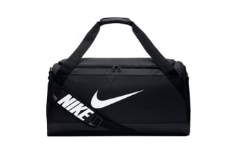 Nike Brasilia Medium Duffel Bag (Black/White)