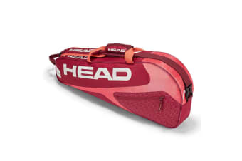 Head Elite 3R Pro Sports Shoulder Carry Bag for 3 Tennis Racquets/Rackets RED/PK