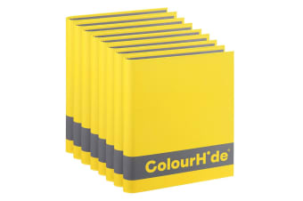 8x ColourHide A4 200 Sheets Silky Touch Ring Binder/Folder File Organiser Yellow