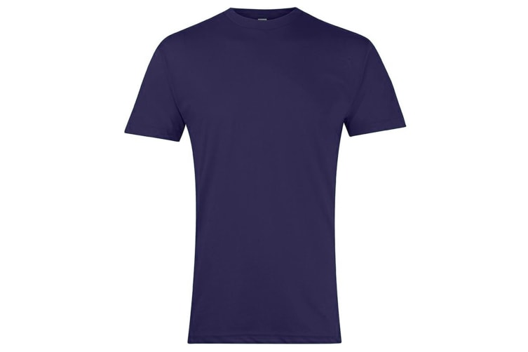 American Apparel Unisex Short Sleeve Crew Neck T-Shirt (Heather Imperial Purple) (2XL)