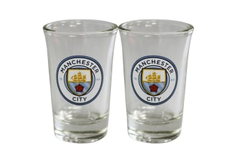 Manchester City FC Shot Glass Set (Pack Of 2) (Multicoloured)