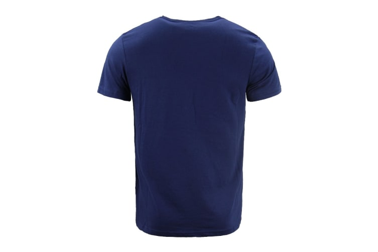 ASICS Men's Logo Tee (Navy Blue, Size XS)