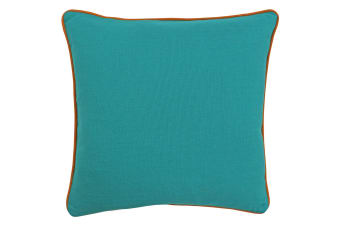 Paoletti Bamboo Cushion Cover (Turquoise/Orange)