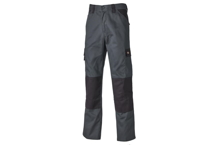 Dickies Mens Everyday Durable Cargo Pocket Work Trousers (Grey/ Black) (40T)