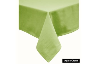 Cotton Blend Table Cloth Apple Green 160x260cm